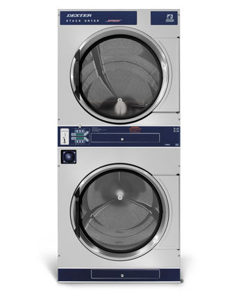 t-50x2 express 50 lb c-series vended stacked dryer